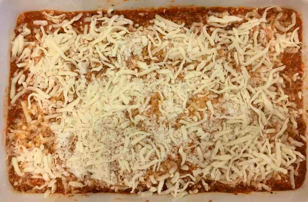 cheese and sauce layer