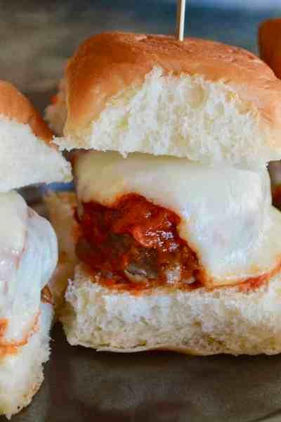 easy Italian meatball sliders