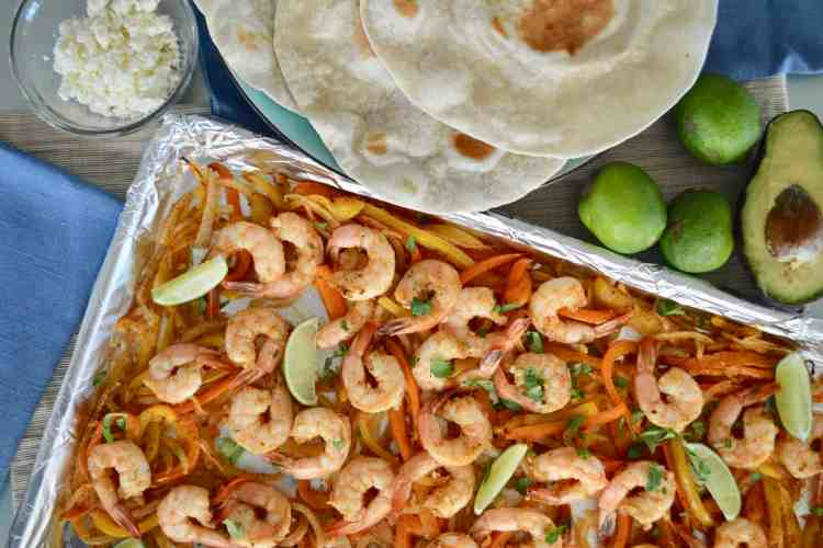 Sheet Pan Shrimp Fajitas – Easy Weeknight Dinner