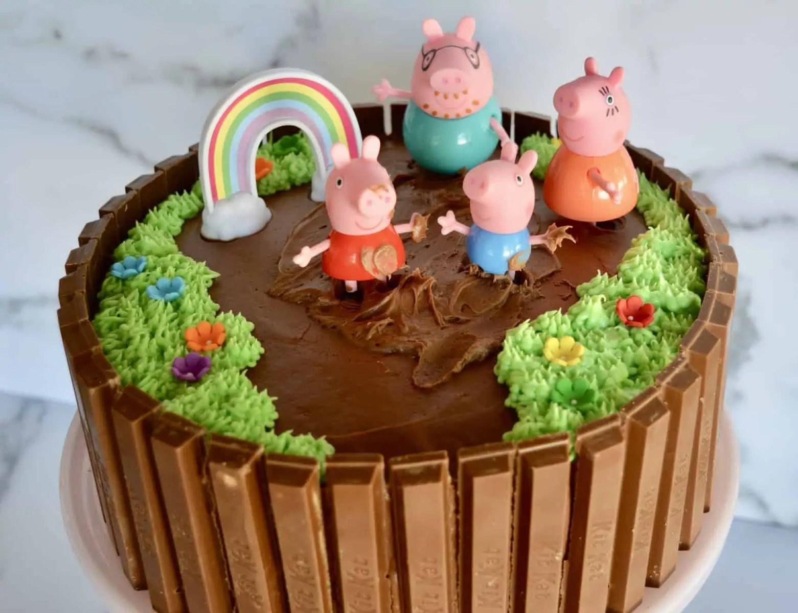 Peppa Pig Birthday Cake Kit Kat Cake This Delicious House