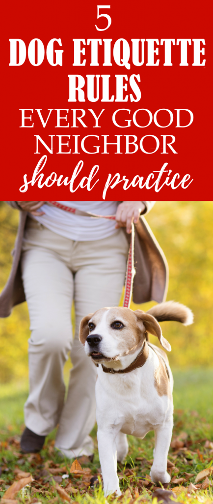 Are you breaking any of these dog etiquette rules? Learn proper dog walking etiquette and how to maintain great relationships with your neighbors by following these 5 dog etiquette rules.