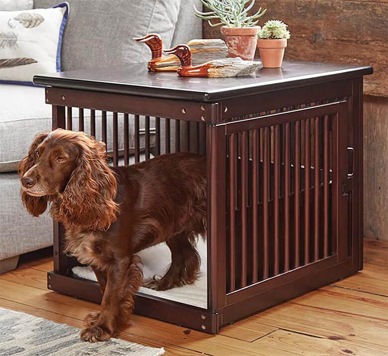 Aesthetic Dog Crate Novocom Top, Dog Crate Wooden Furniture