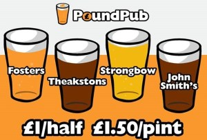 pound pub prices