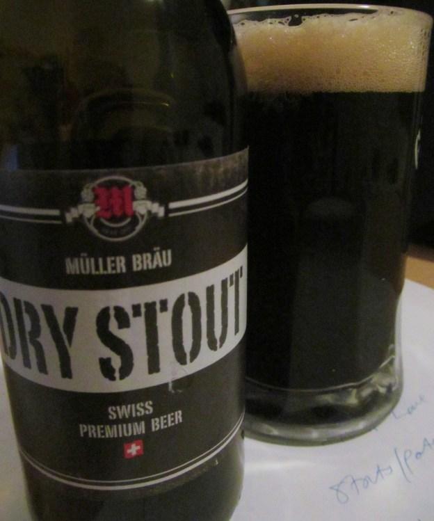 Müller Bräu Dry Stout, Swiss Premium Beer