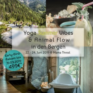 Yoga Summer Vibes und Animal Flow in den Bergen - 2019