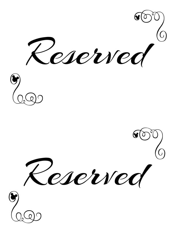 Reserved Table Sign Template Free Brokeasshome Com