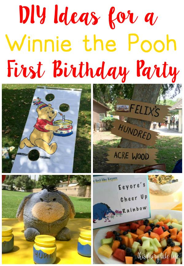 Felix S Winnie The Pooh First Birthday Party