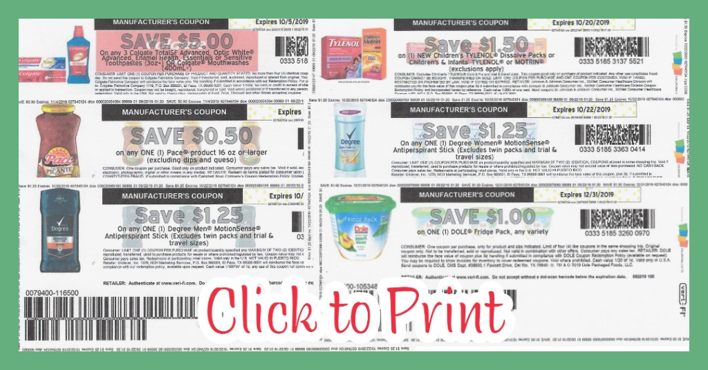 12 New Coupons Colgate Tylenol Degree More