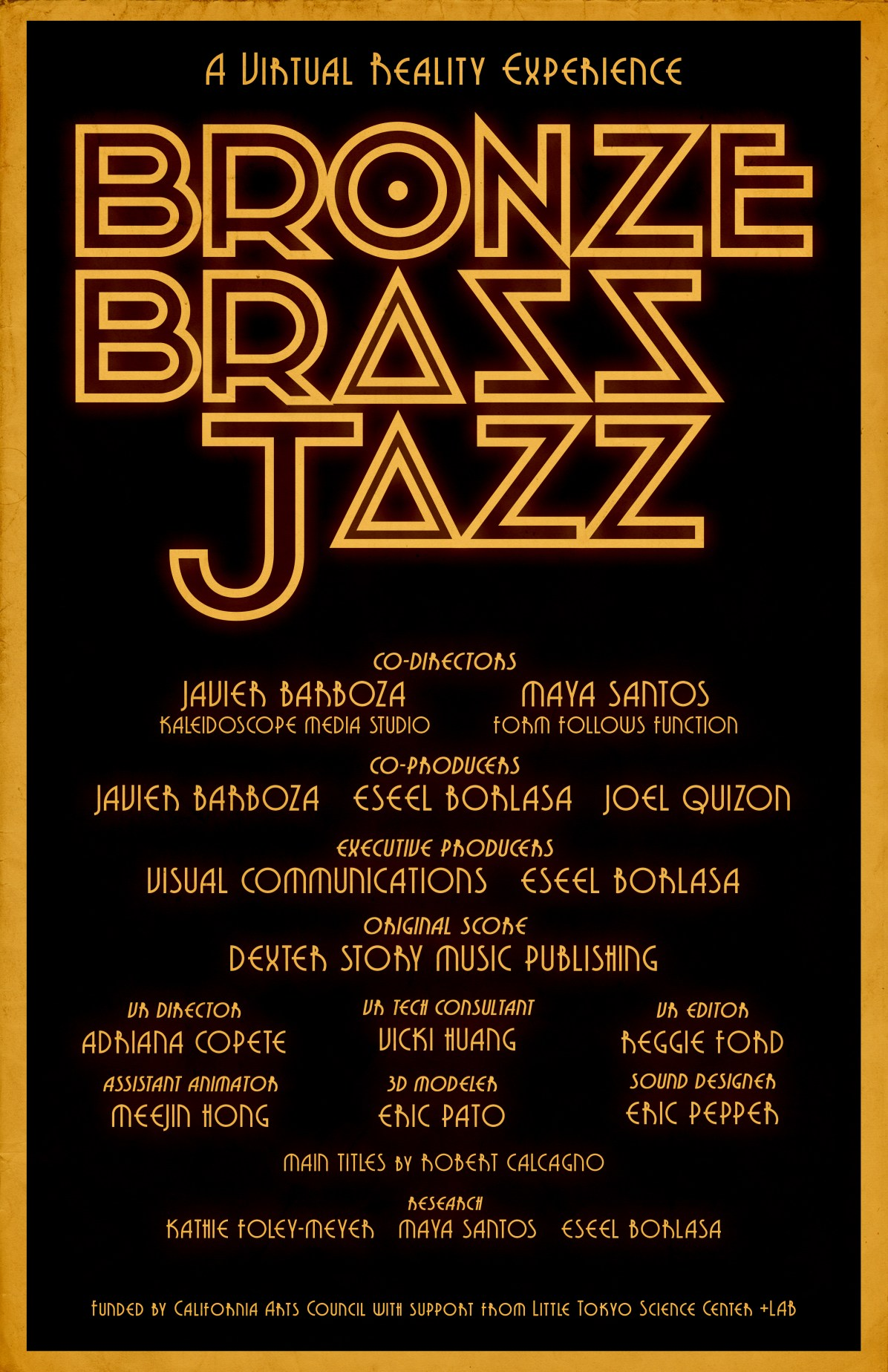 Bronze Brass Jazz Poster_Color