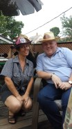 My big sis' Lenora with friendly cowpoke, Thomas
