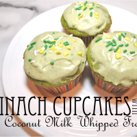 Green Cupcakes (Shhh, it's Spinach!)