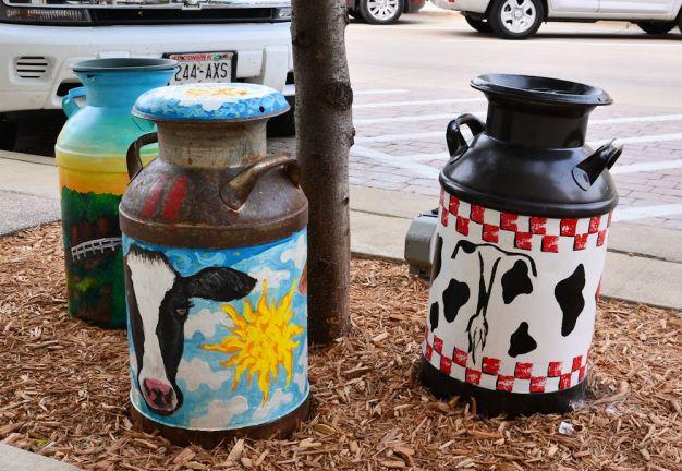 Some repurposed cream cans