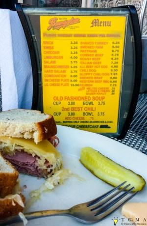 Baumgartner's menu