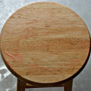 Bar Stool With Chemical Stripper Applied
