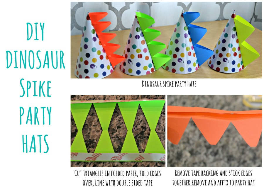 DIY Dinosaur Spike Party Hats