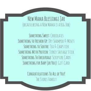 The New Mama Blessings Jar | thisgratefulmama.com