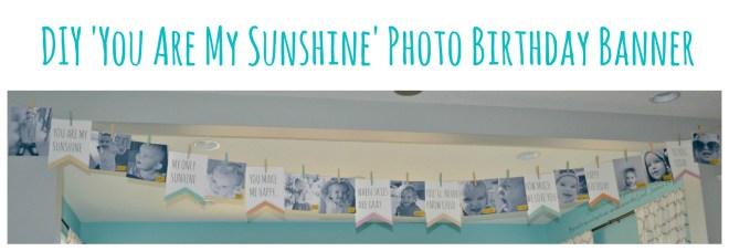 DIY You Are My Sunshine Photo Birthday Banner