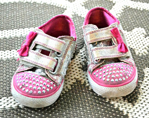 Pink Light Up Sequins Shoes