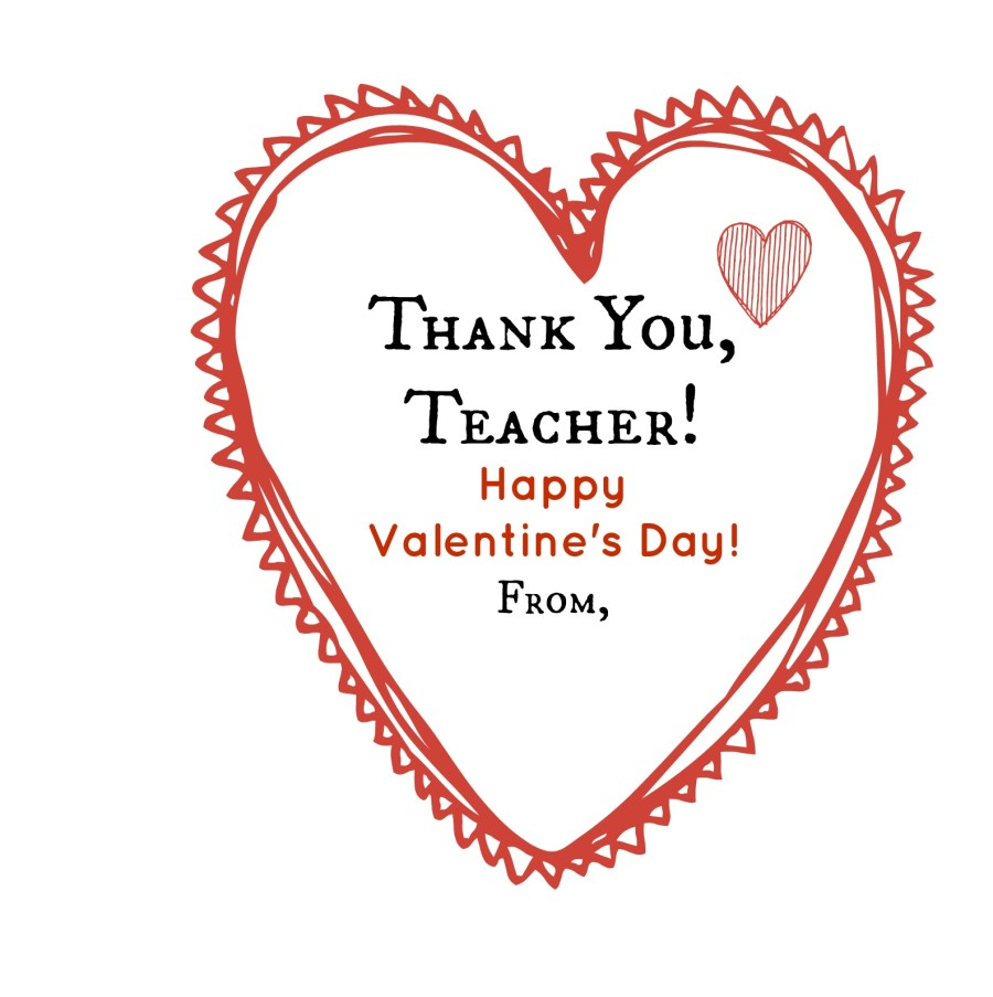 Thank you Teacher Valentine | thisgratefulmama.com