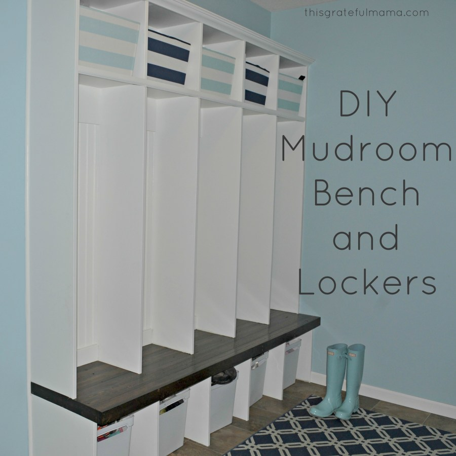 DIY Mudroom Bench and Locker Reveal | thisgratefulmama.com