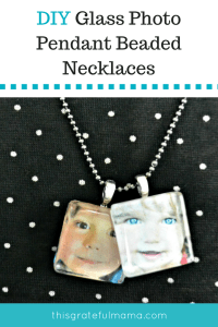 DIY Glass Photo Pendant Beaded Necklaces | thisgratefulmama.com