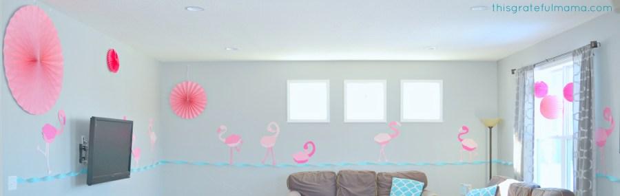 DIY Pink Flamingo Birthday Party Decorations and Free Printable Templates | thisgratefulmama.com