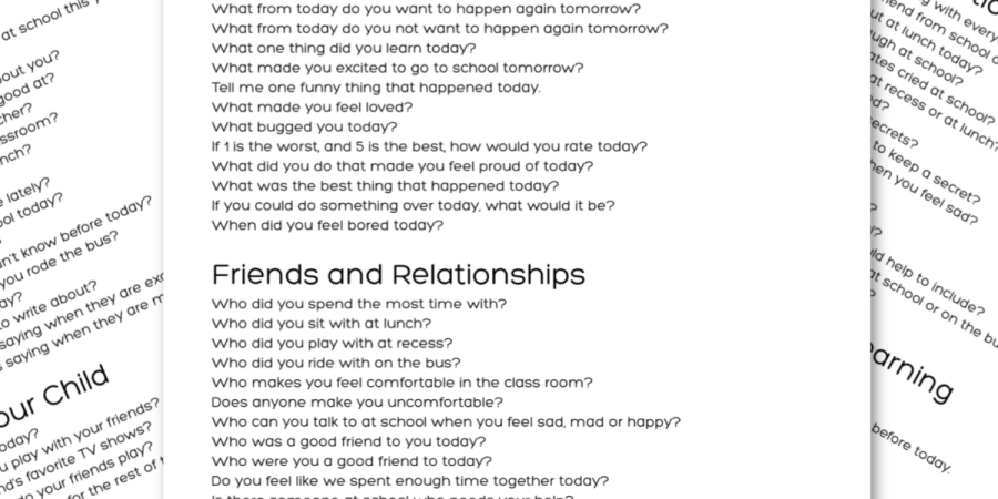 101 Questions for Kids After School