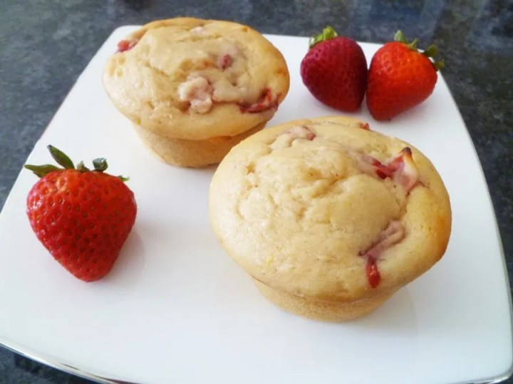 If you love summertimefood, Skinny Strawberry Lemonade Muffins are the perfect snack for you. Each muffinis bursting with strawberry lemon flavour. You can almost drink it up!