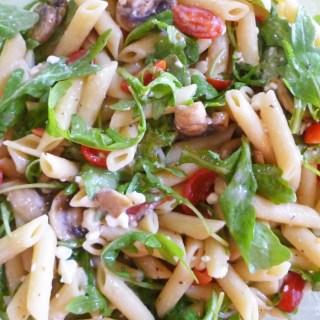 Warm Mushroom and Arugula Pasta Salad