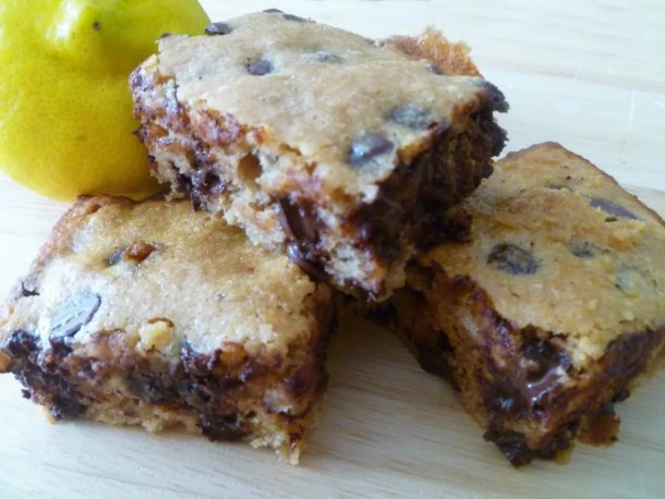 Lemon Chocolate Chip Blondies
