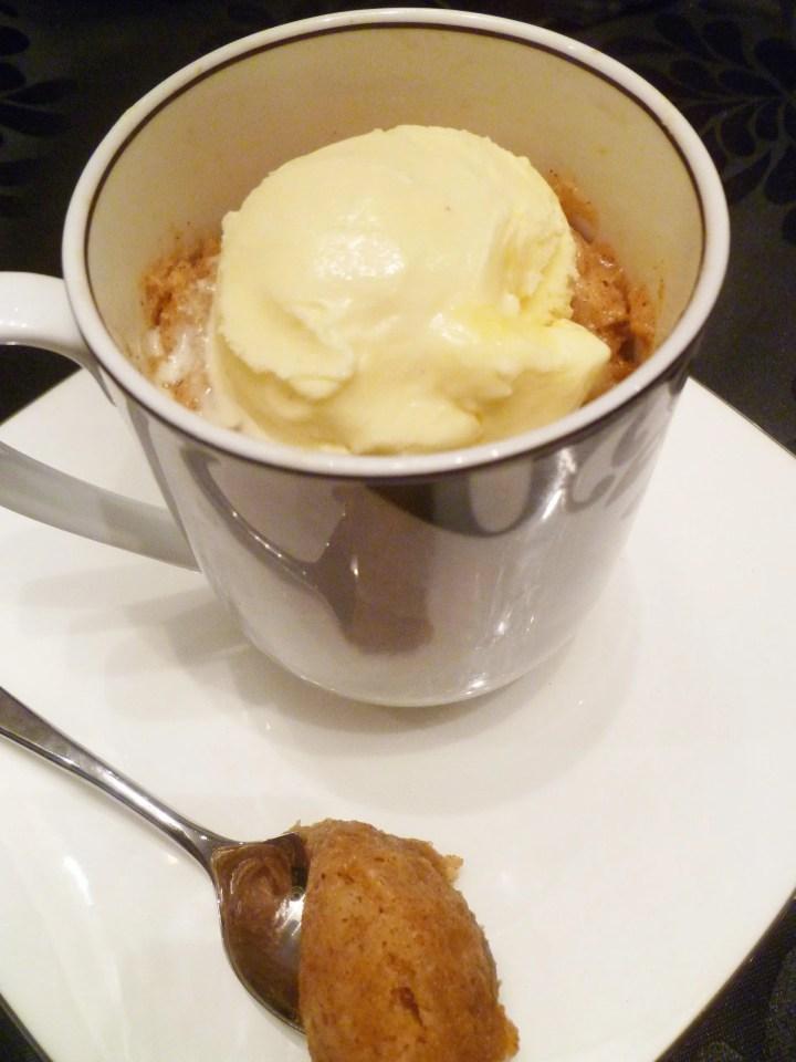 Apple Pie Spiced Mug Cake