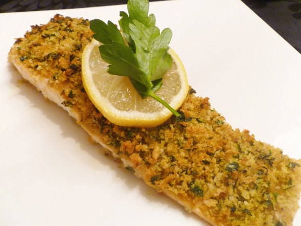 Roasted Panko Crusted Salmon