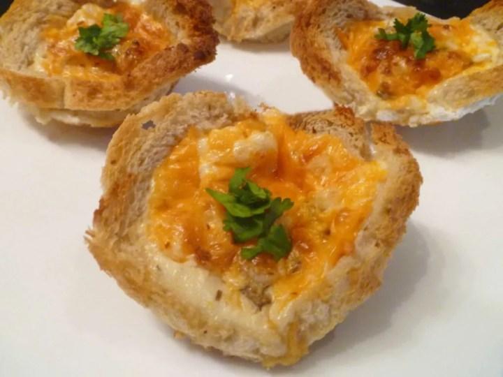 Mushroom Omelet Bread Cups