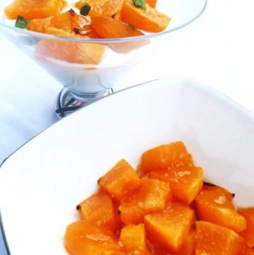 Maple Roasted Cantaloupe
