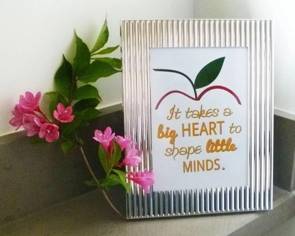 Framed Teacher Gift