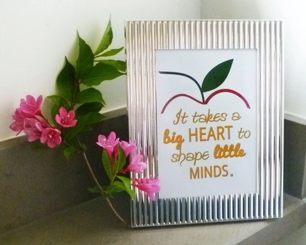 Framed Teacher Gift