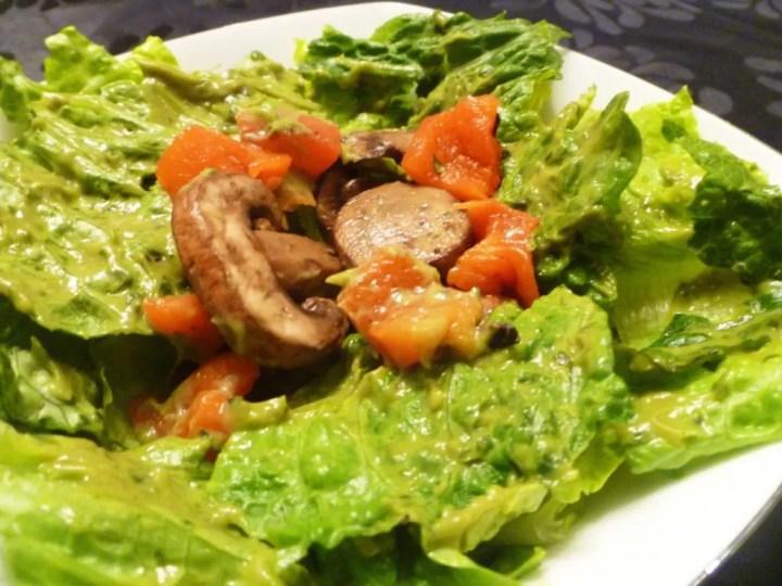 Sweet Avocado Basil Balsamic Salad
