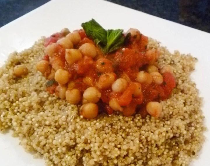 spicy tomato quinoa