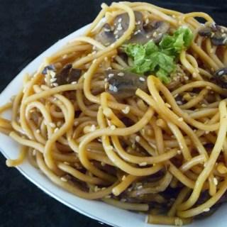 Garlic Asian Noodles