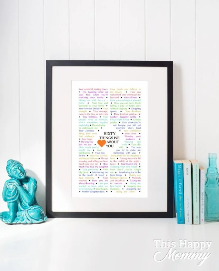 60 Things We {Love} About You - Diamond Edition