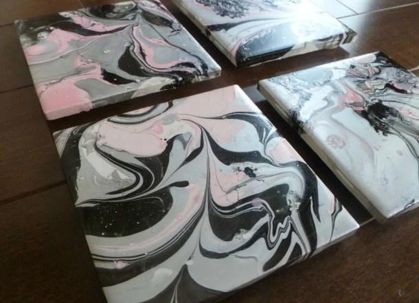 DIY Swirl Painted Coasters