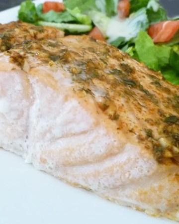 Garlic Herb Baked Salmon