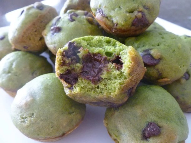 Spinach Chocolate Chip Bites
