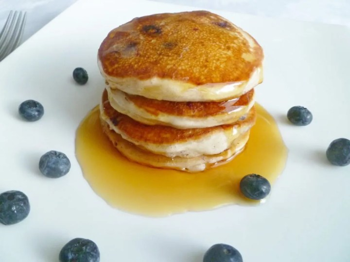 Yogurt Blueberry Pancakes