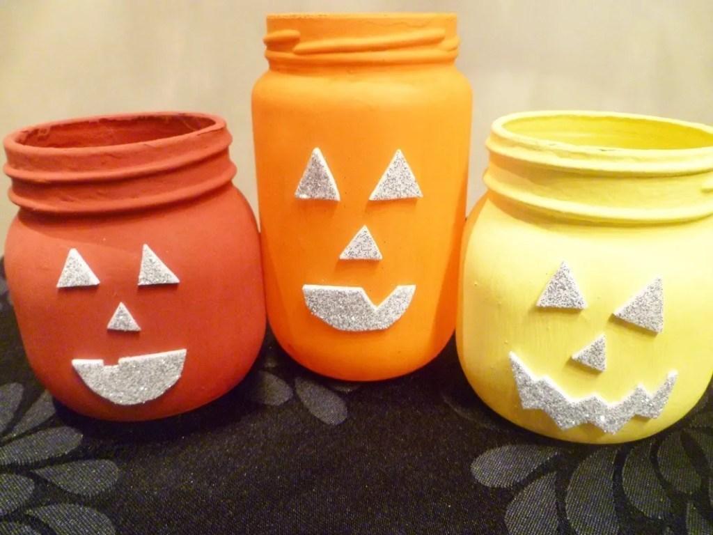 Jack-O'-Lantern Jars