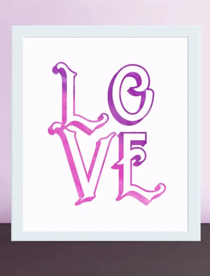 Love Wall Art | Valentine's Day printable