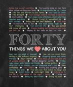 40 Things We {Love} About You - Chalkboard Edition