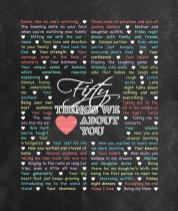 50 Things We {Love} About You - Chalkboard Edition