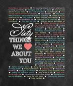 60 Things We {Love} About You - Chalkboard Edition