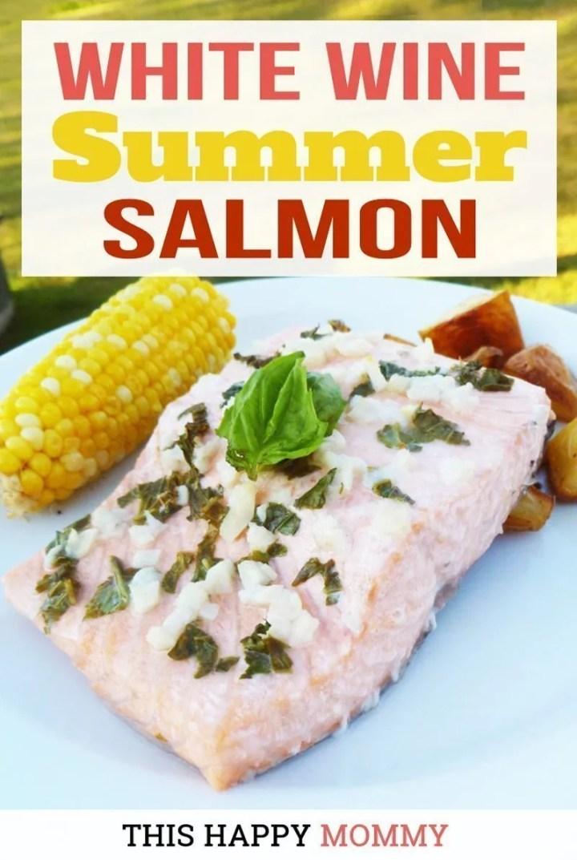 white wine summer salmon